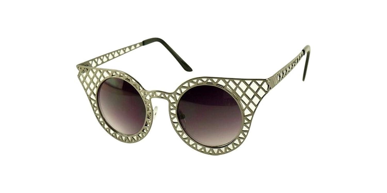 Gray Vintage Women Sunglass Retro Fashion Lace Hollow Metal Frame Glass Eyeglass