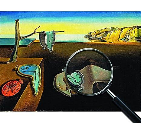 Giallo Bus - Cuadro - Impresion En Lienzo - Salvador Dali - La Persistenza Della Memoria - 100 X 140 Cm: Amazon.es: Hogar