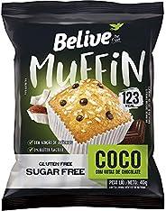 Muffin Belive Coco com Gotas de Chocolate - Zero Açúcar – Sem glúten, sem lactose – 40g