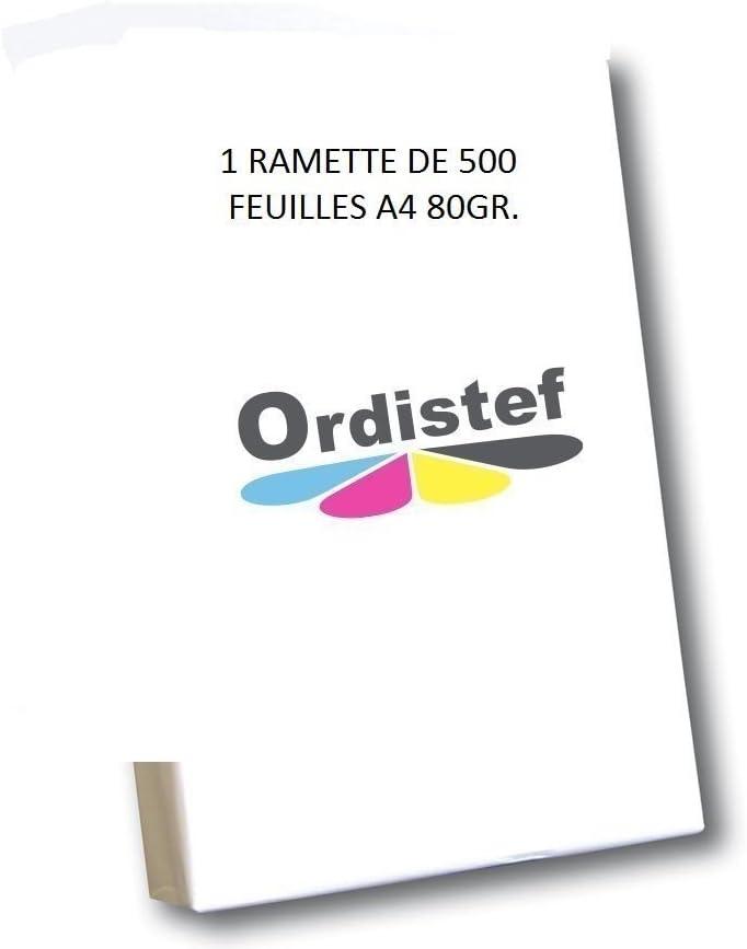 Paquete de folios A4 (80 g, 500 hojas), color blanco: Amazon.es: Oficina y papelería