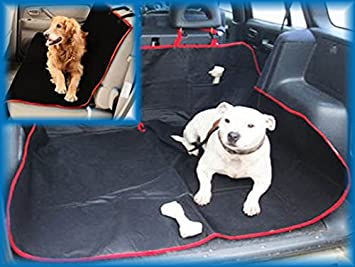Mini Cooper S 14 On 2 In 1 Cargo Cover Pet Dog Travel Hammock Red
