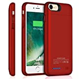 TAYUZH iPhone 6/6s/7/8 Battery Case, 3000mAh Slim Magnetic Portable Charging Case, Rechargeable External