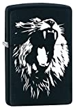 Zippo Lighter: Roaring Lion - Black Matte