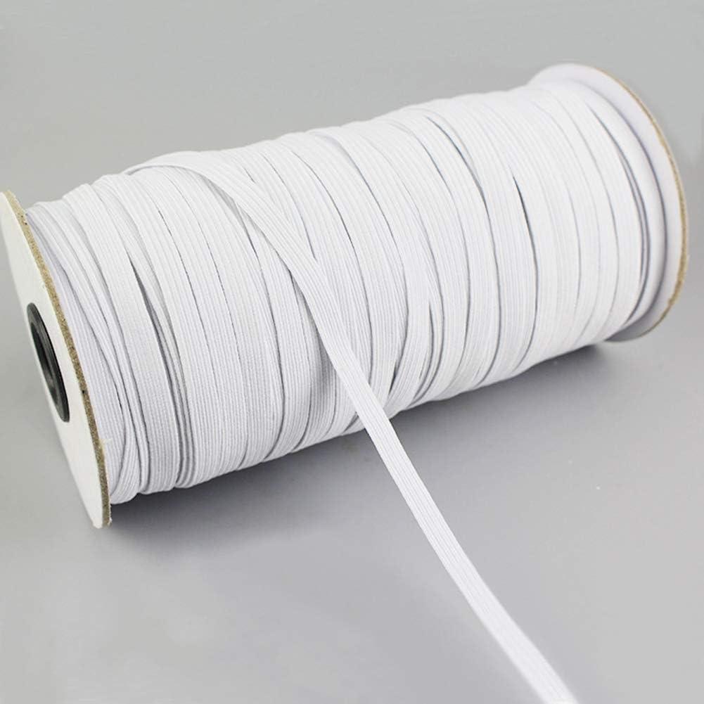 Elastico in Tessuto da 3 mm con Elastico in Corda Elastica in Filato Intrecciato per Cucito Artigianale Fai-da-Te LYXMY Cavo Elastico Rotondo Cordoncino per Cordoncino