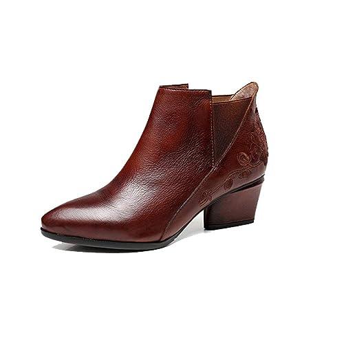 ZPEDY Zapatos De Mujer, Botines, Puntiagudos, Elegantes, Elegantes, Cómodos, Retro: Amazon.es: Zapatos y complementos