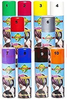 bombes spray bouteilles peinture cheveux soire carnaval 125ml couleur bleu - Spray Colorant Pour Cheveux