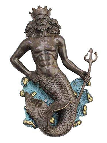 7u0026quot;H Brass Neptune Mermaid Door Knocker