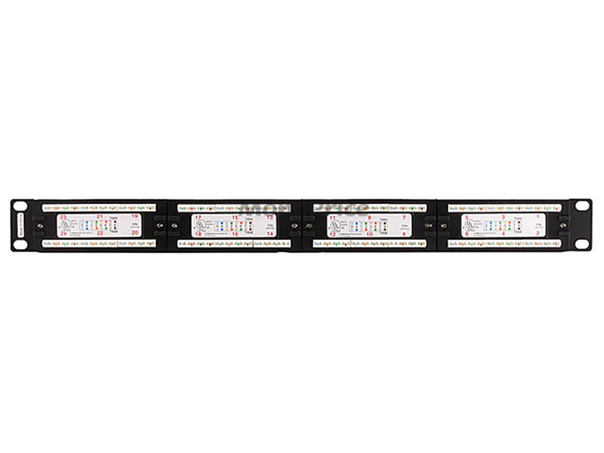 Amazon.com: Monoprice Cat5 Enhanced Patch Panel 110Type 24 port (568A/B  Compatible): Home Audio & Theater