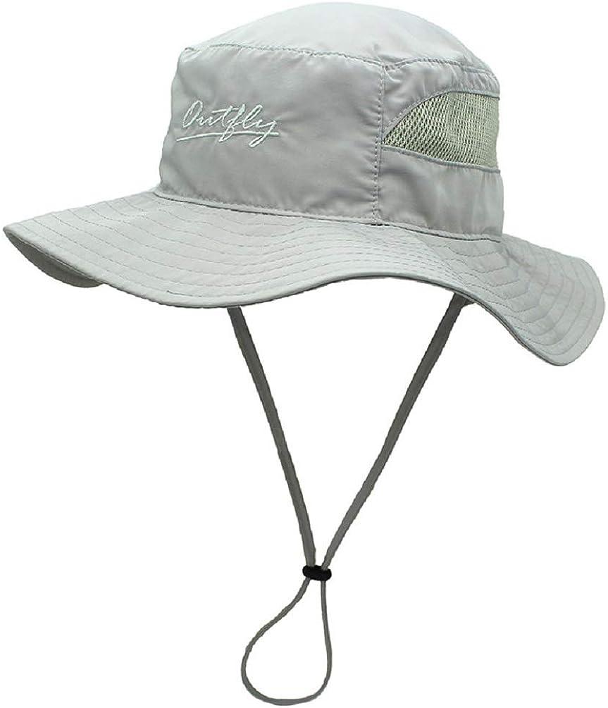 Decentron Womens Mesh Boonie Sun Hat Wide Brim UV Protection Beach Fishing Hat
