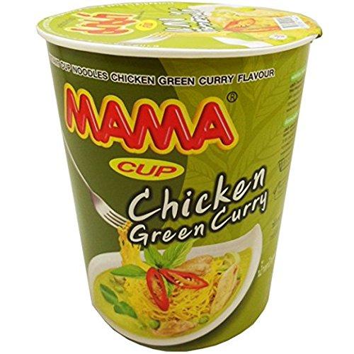 Mama Instant Cup Noodles Chicken Green Curry Flavour Thai Original Spicy Net Wt 60 g (2.11 Oz) x 2 - Drunken Chicken Cooker