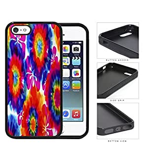 Tie Dye Hippie Flower Power Design Rubber Silicone TPU Cell Phone Case Apple iPhone 5 5s by icecream design