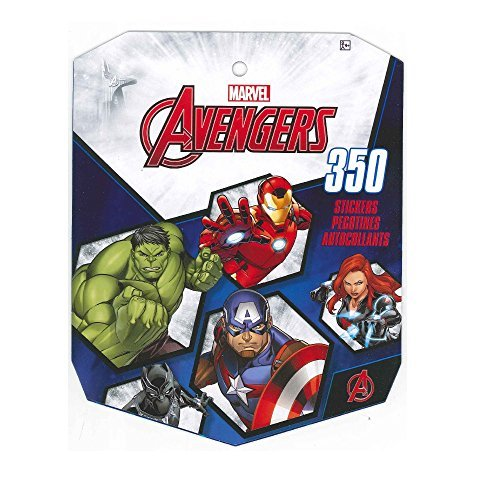 Marvel Avengers Sticker Book for Kids, featured Incredible Hulk, Captain America, Iron Man, Thor, Black Widow, Hawkeye (over 350 stickers)-1 PACK ()