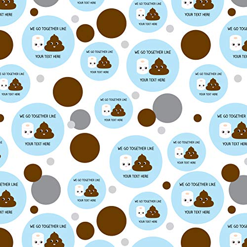 - GRAPHICS & MORE Personalized Custom 1 Line Toilet Paper and Poop Best Friends Premium Gift Wrap Wrapping Paper Roll