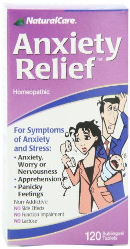 (NaturalCare Homeopathic Anxiety Relief , 120 Sublingual Tablets by NaturalCare)