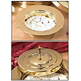 Brass Finish Stacking Bread Plate & Bread Plate Cover