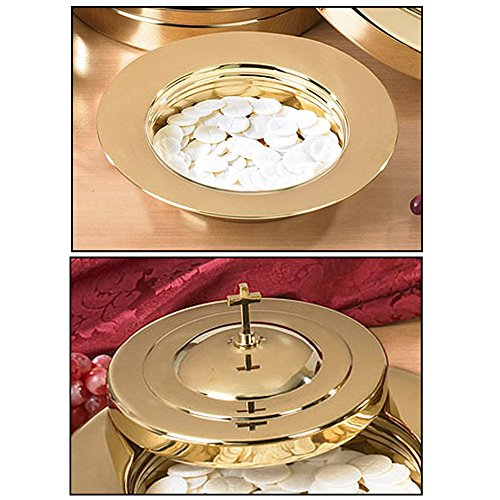 Brass Finish Stacking Bread Plate & Bread Plate (Communion Bread Plate)
