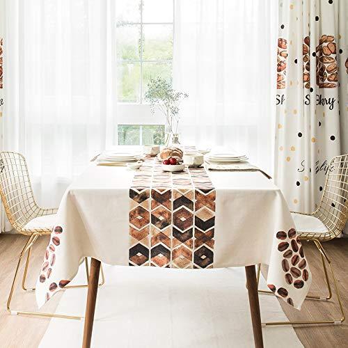 Gquan テーブルクロス綿と麻の幾何学模様30°水温クリーニング低温アイロン掛けサイズ2オプションのキッチンレストランパーティーピクニック屋内屋外用 (Size : 140*220cm) 140*220cm  B07SFL823F