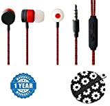 Captcha Earphones With Mic, Handsfree Headset With Deep Bass And Music Equalizer With Designer Earphone pouch,Coin pouch,Money pouch Compatible with Xiaomi, Lenovo, Apple, Samsung, Sony, Oppo, Gionee, Vivo Smartphones (One Year Warranty)