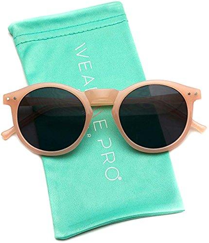 Vintage P Pink Inspired Pro 3 Classic Lens Black Keyhole Round Frame Retro Wearme Sunglasses 0xaqpgwA0