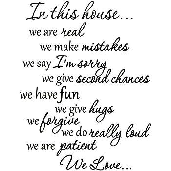 Amazon Com Vwaq Vwaq 1924 In This House Decals Family