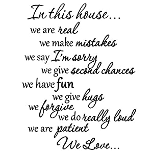 In This House We Do Wall Decals Family Rules Quotes Sayings Vinyl Wall Art  Stickers Part 49