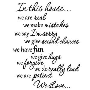 Amazon.com: In This House We Do Wall Decals Family Rules ...
