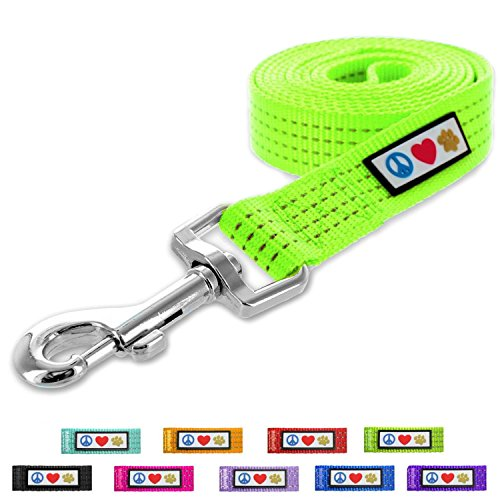 Pawtitas Pet Puppy Leash Reflective Dog Leash Comfortable Handle Highly Reflective Threads Heavy Duty Dog Training Leash Available as a 6 ft Dog Leash or 4 ft Dog Leash