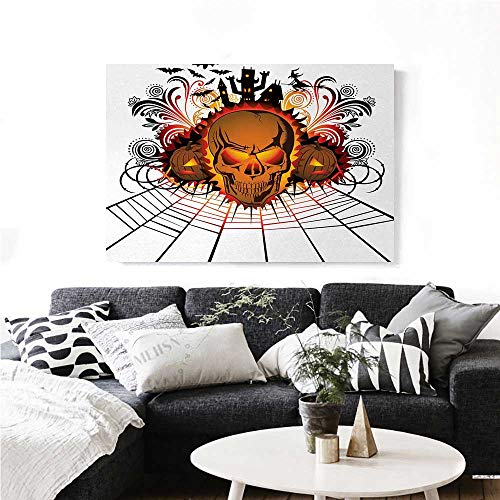 homehot Halloween Wall Art Canvas Prints Angry Skull