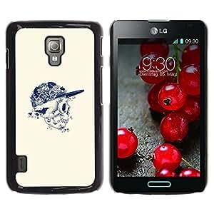 For LG Optimus L7 II P710 / L7X P714 Case , Hip-Hop Ink Tattoo Art Black - Diseño Patrón Teléfono Caso Cubierta Case Bumper Duro Protección Case Cover Funda