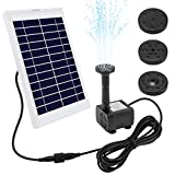 Ankway Solar Fountain Pump 5W 128'' Wire Length Solar Powered Water Pump for Pond Pool Submersible Outdoor Garden Solar Water Fountain Pump Kit