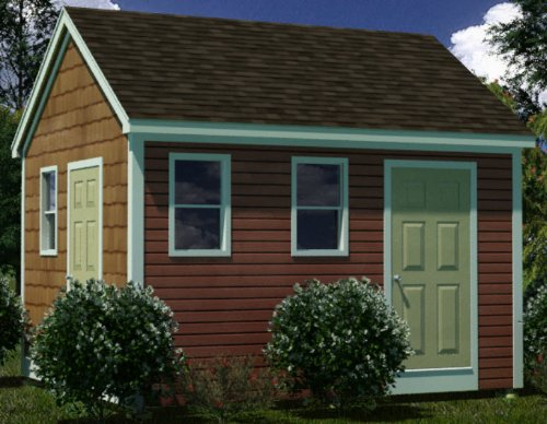 12x14 Shed Plans Garden // Utility // Storage How To Build Guide Step By Step