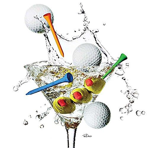 - Paperproducts Design Golf Splash! Beverage Napkins, 5 x 5