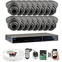 GW Security 16 CH HD 1080p Outdoor Indoor 2.8-12mm Vari-Focal Security Camera System