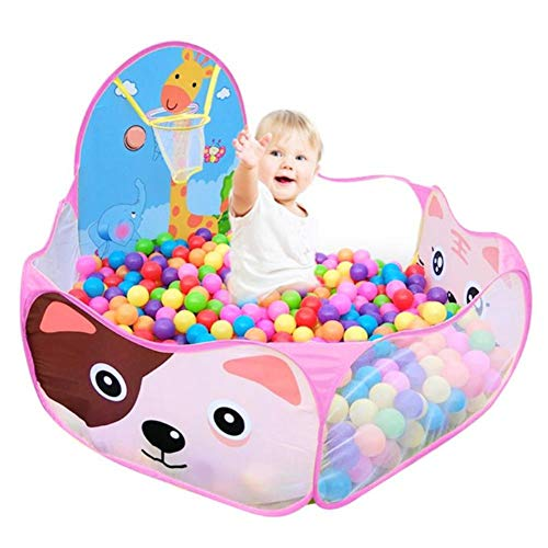 WSIECQ for The Baby Children Baby Boys Girls Ocean Ball Pit Pool Game Arena Play Tent with Basketball Hoop A Playpen Outdoor