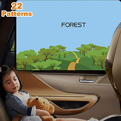 LIFONDER ShadeSox Universal Fit Car Side Window Baby Sun Shade (2 Pack) | Protects Your Baby and Older Kids from the Sun, Fits All (99%) Cars! Most SUVs!