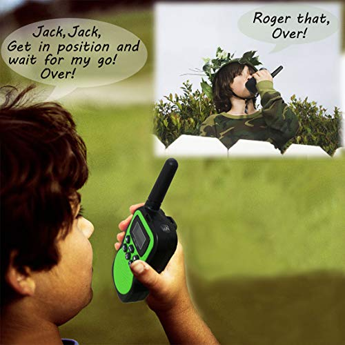 Best Gifts for Kid, JRD&BS WINL Toys Walkie Talkies for Kid,Fun Toys for 4-5 Year Old Boys,Kid Toys for 6-10 Year Old Travel Hunting,HK-588 1 Pair(Green) by JRD&BS WINL (Image #5)