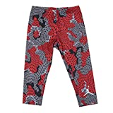 NIKE Jordan Jumpman Big Girl's Compression Capri Tight (M(10-12YRS), Gym Red)