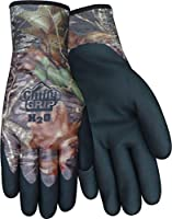 Red Steer Mossy Oak Chilly Grip MO-25 H2O Waterproof Thermal-Lined Full-Fingered Work & General Purpose Glove, Nitrile Over-Dip [PRICE is per PAIR]