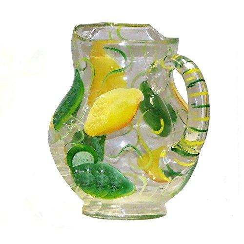Lemon Lime Design 5-piece Margarita Set. Hand Painted by ArtisanStreet (Image #1)
