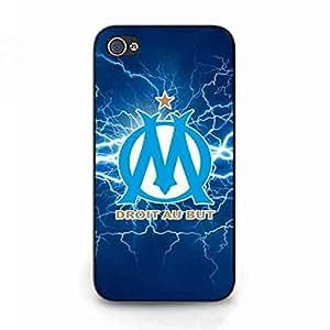 Marseille Logo Phone Funda Cover For IPhone 4/IPhone 4S,Olympique De Marseille Logo Phone Funda Wonderful Design Phone Skin