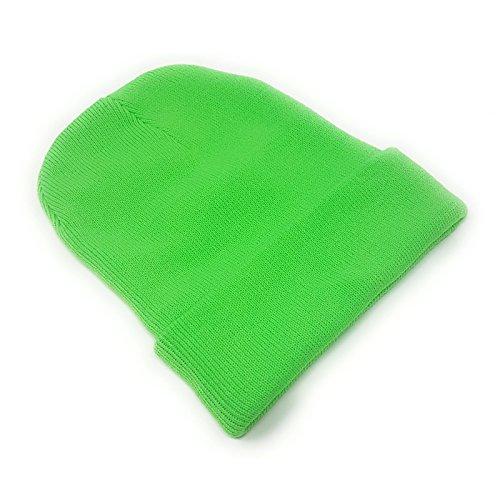 para de Hombre Punto WSUK verde Gorro neón qvzSR