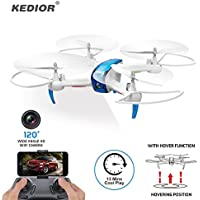 Kedior Hero 3 Wifi FPV Drone with 720P Wide-Angle HD Camera Live Video RC Quadcopter with Altitude Hold, Gravity Sensor Function, RTF and Easy to Fly for Beginner