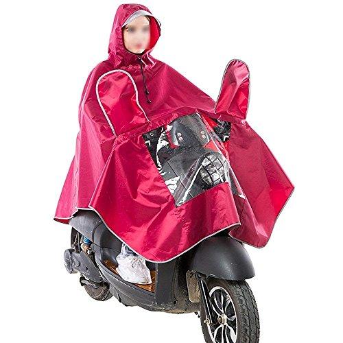 Fille À Manteau Poncho Adulte Pluie Unicolore Veste Capuchon Vêtements De Mode Opaque Imperméable Élégant Casual Rouge vwvqg74