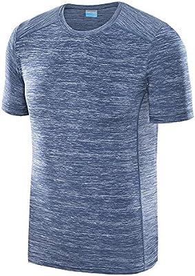 Top De Fitness Camiseta de manga corta atlética de protección solar contra el sol de secado rápido atlética para ciclismo, entrenamiento, entrenamiento, ejercicio 5 colores Camisa De Deportes: Amazon.es: Hogar