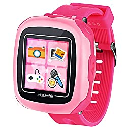 Game Smart Watch for Kids Children Boys Girls with Camera 1.5'' Touch 10 Games Pedometer Timer Alarm Clock Toy Wrist Watch Health Monitor (002Cute Pink Mix)