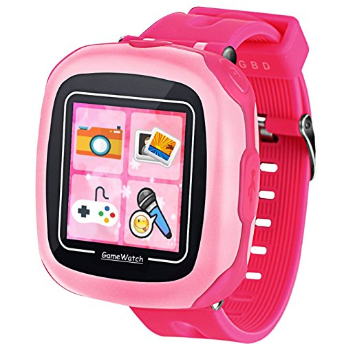 Pink Video Monitor - GBD Game Smart Watch for Kids Children Boys Girls with Camera 1.5'' Touch 10 Games Sports Pedometer Timer Alarm Clock Summer Learning Toys Gifts Wrist Watch Health Monitor Travel Camping