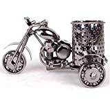 MYTANG Creative office desktop Storage accessories,Harley The motorcycle loves metal pencil pen holder Black,Very cool gift idea