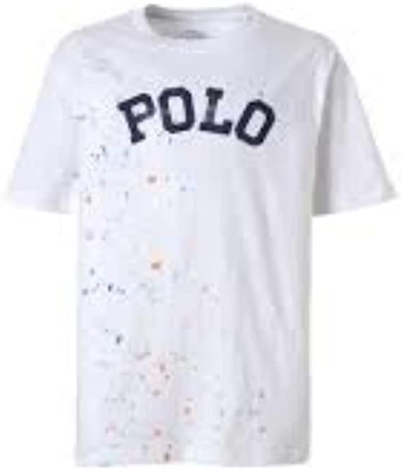 Polo Ralph Lauren - Polo tee TP TSH - Camiseta Manga Corta Manchas Pintura NIÑO (6 AÑOS): Amazon.es: Ropa y accesorios