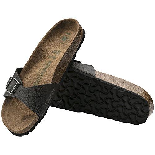 Birkenstock Womens Madrid Birko-Flor Sandals Pull Up Anthracite 6qNf8t7l