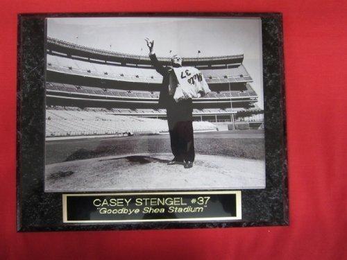 Mets Casey Stengel GOODBYE SHEA STADIUM Collector Plaque w/8x10 Vintage (Shea Stadium Baseball)